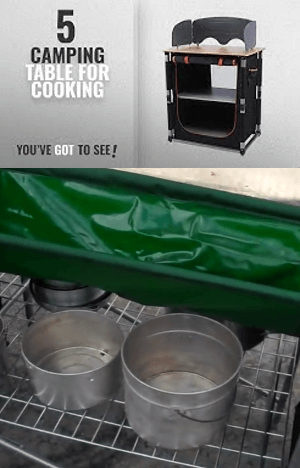 Portable Camping Kitchen with Sink