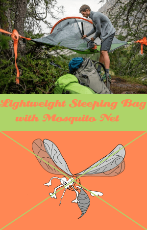 Lightweight Sleeping Bag with Mosquito Net