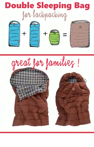Double Sleeping Bag for Backpacking